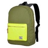 【011007-02】GMT挪威潮流品牌 撞色後背包 軍綠 附15吋筆電夾層