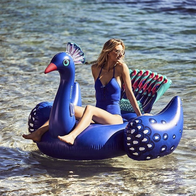 SUNNYLIFE peacock shape mount swimming ring