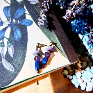 Kyoto Collection - Stone Lantern Lapis, Earrings, Ear Clips