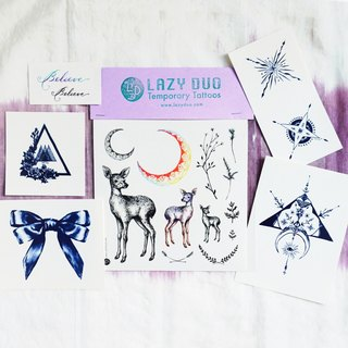 Goody Bag - LAZY DUO Temporary Tattoo Stickers · Set F ·