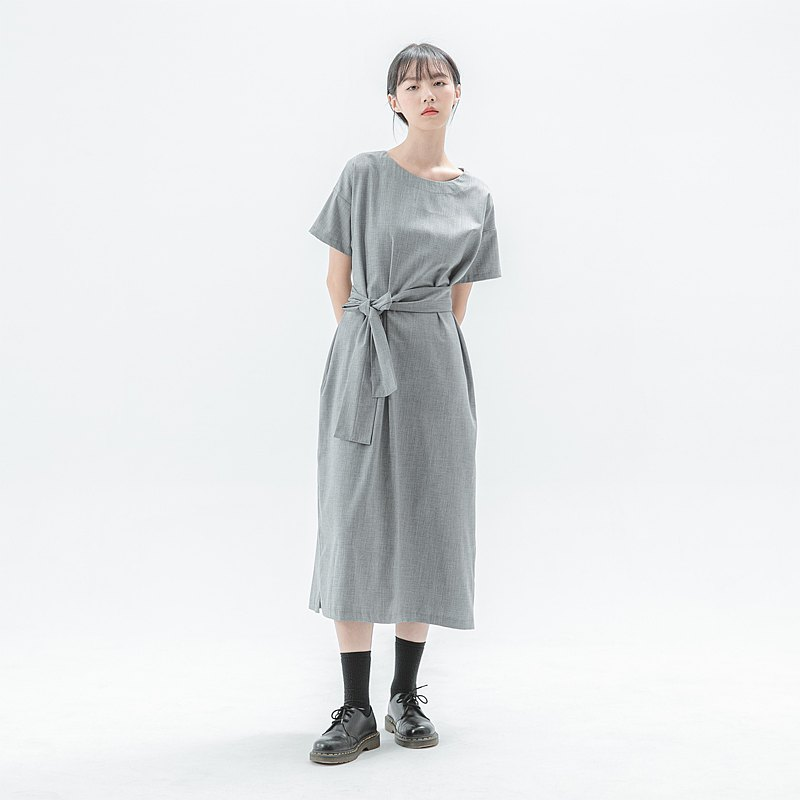 [Classic original] Dust_Dust change strap dress _CLD004_Spring and summer_Grey
