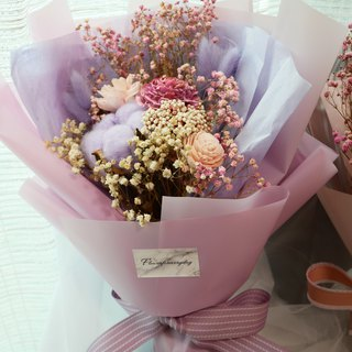 Flower daily pink purple love dry flower bouquet is the color of love