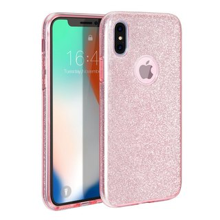 AOORTI :: Apple iPhone X/8/7 All-Purpose Transparent Anti-Stop Phone Soft Case - Shiny Sequins (Send Corning Glass Protector)