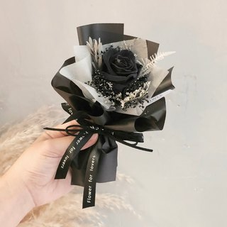 Dark starry black rose, immortal bouquet