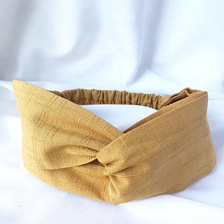 Plain cross hair band - mustard yellow