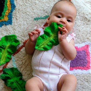 Spain Oli&Carol Healthy Fruits & Vegetables Series - Chinese Kale - Natural Non-toxic Rubber Gusset / Bath Toys / Green Toys