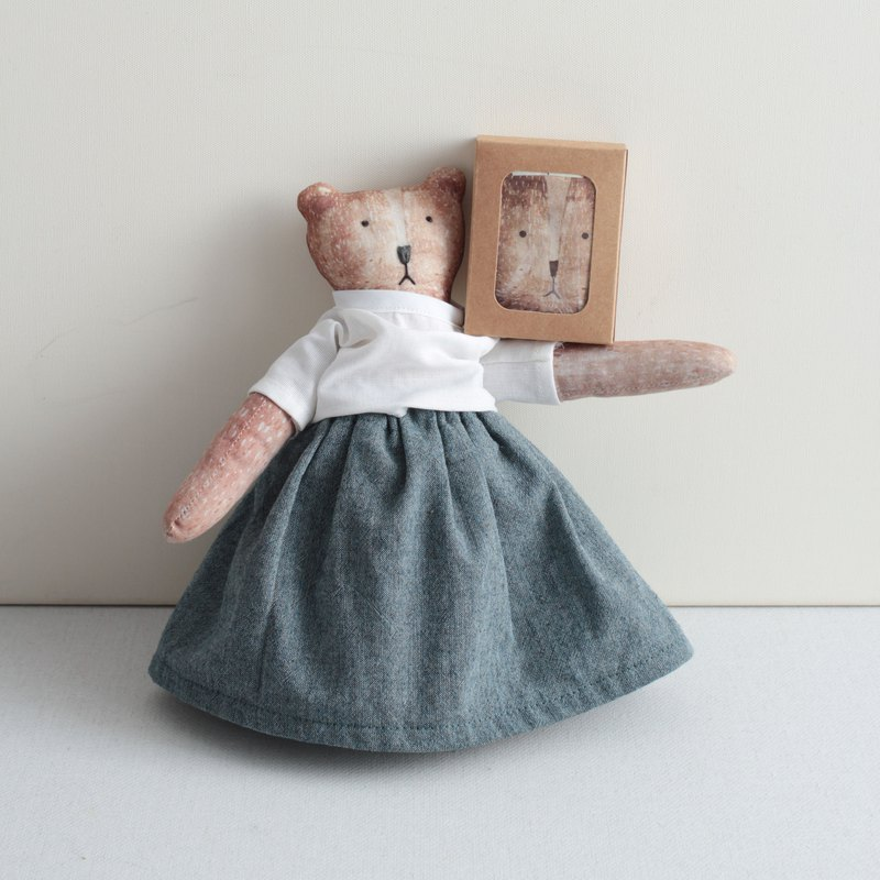 Bear doll hand made material package - bear mother