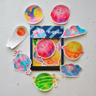 New! A soft rot planet sticker pack