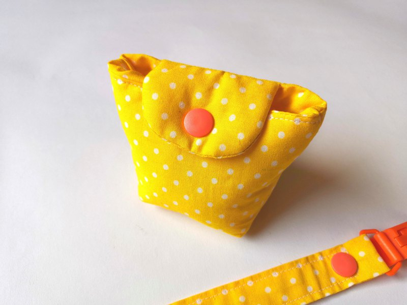 Pacifier Clip Pacifier Storage Bag Combination Yellow White Point