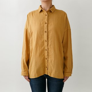 [Botanical Dye] Onion Dye Soft Cotton Bottle Loose Shirt 8514-01014-60