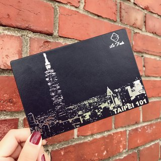 [La Fede] Taipei 101 night view bronzing postcard leather tanning