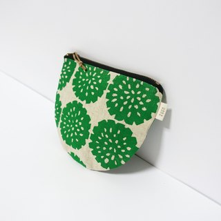Screen printing  Zipper bag  flower