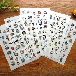 Dimanche pressure stickers - no aging day stickers / daily