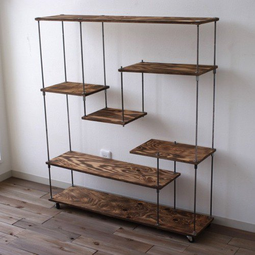 wood iron shelf 1060*910*225