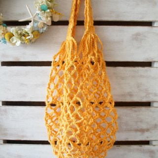 Handmade twine weaving - start the green life of the rhizome, fruit storage bag / shopping bag ~