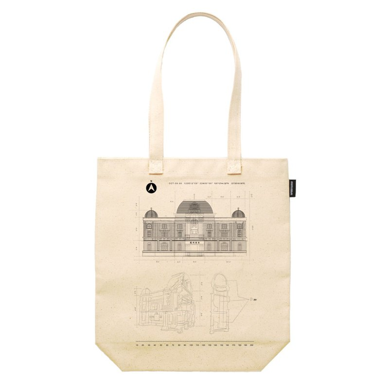 Tainan State Hall Construction Line Terms Synthetic Canvas 12oz Heavy Tote