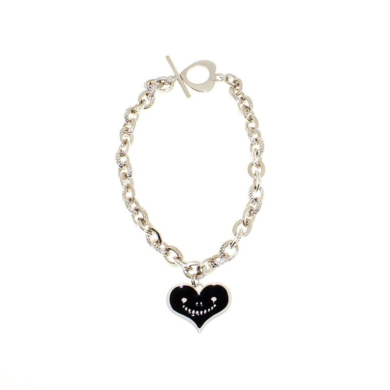 Dreams Handmade Jewelry Collection - Black Metal Smile Love Bracelet Neutral (Unisex)