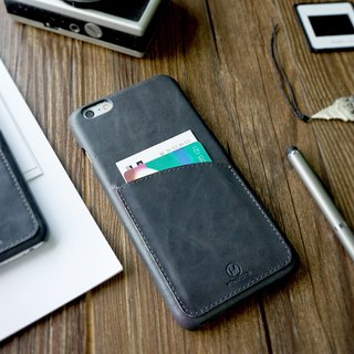 EXQUISITE | Leather Phone Case - IPHONE 6 / 6S PLUS - Charcoal Gray