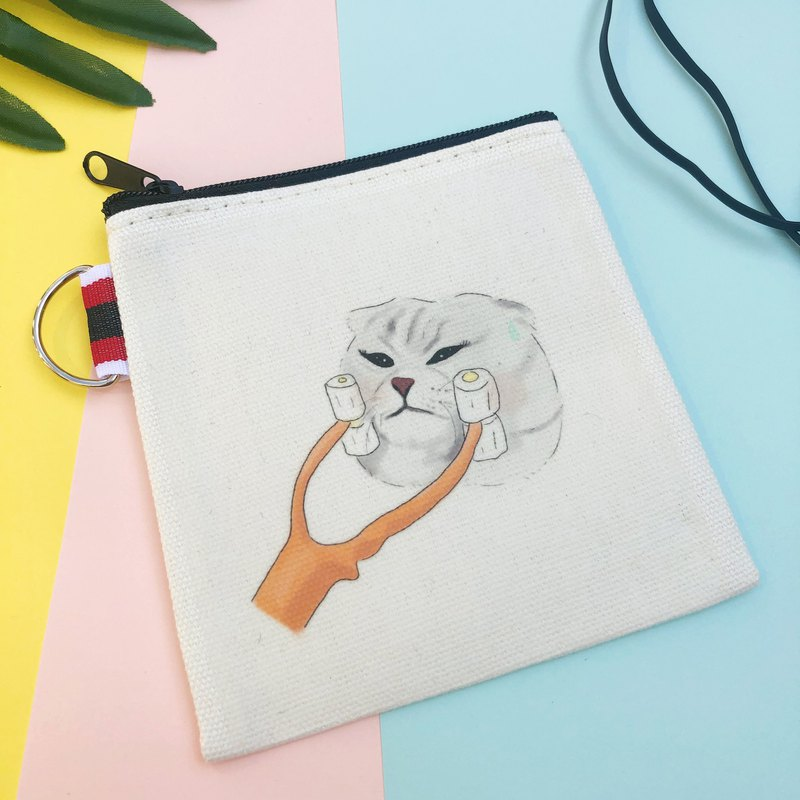Thin-faced cat coin purse