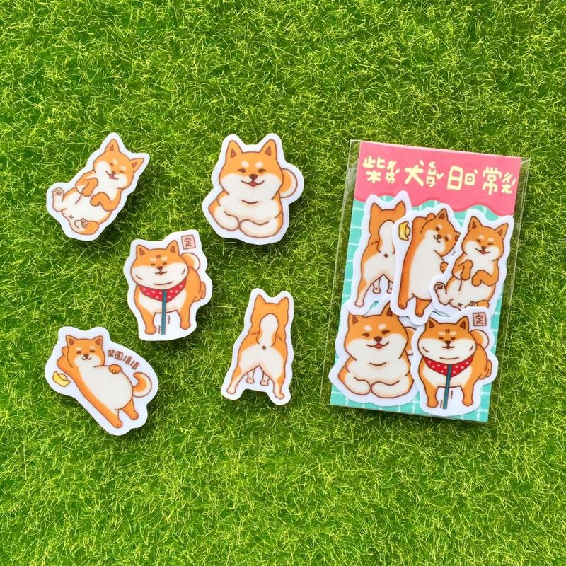 Shiba Inu Daily – Mini Waterproof Sticker Pack SSS0111