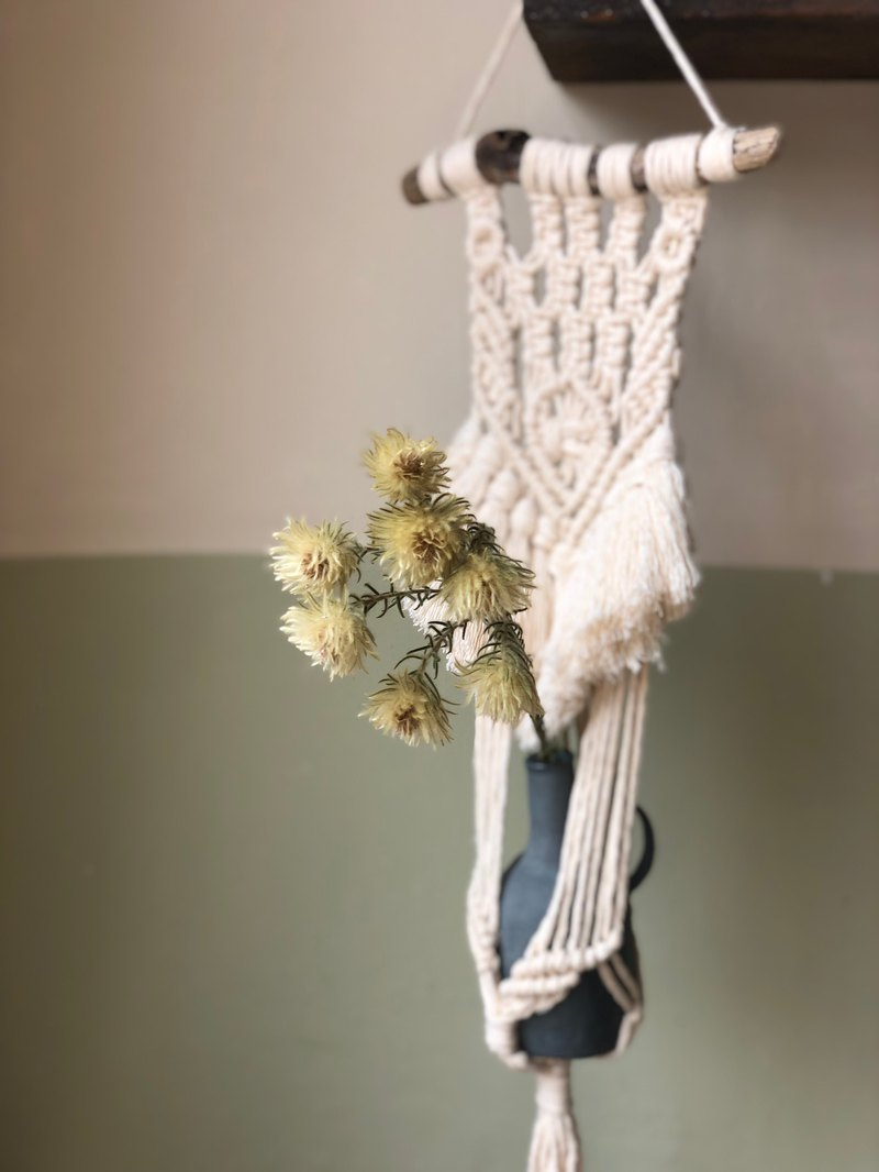 Fabric - tassel potted tick / wall / hanging basket