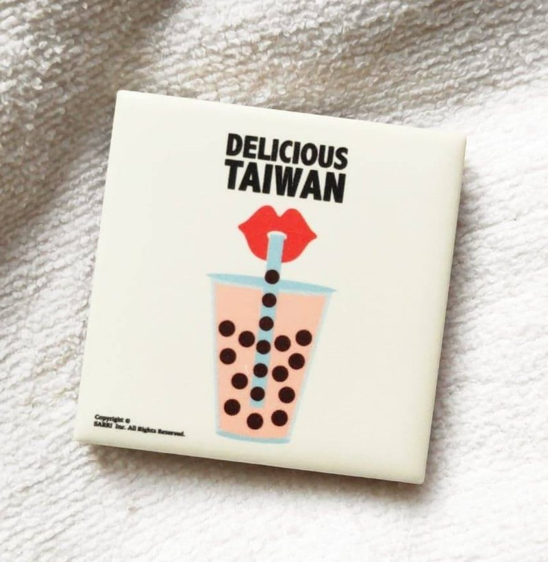 Tile magnet pearl milk tea Taiwan native gift birthday exchange gift magnet local