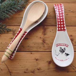 France imported design efya rustic rural rooster spoon spoon