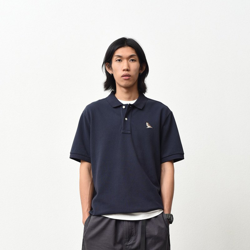 chichaqu | Polo shirt with Embroidery /Sparrow/