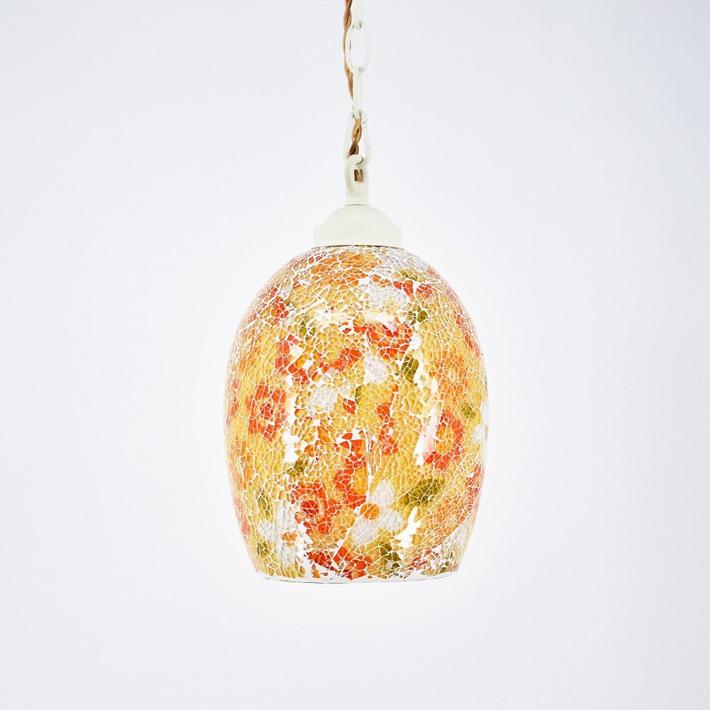 Hand-painted stained glass lighting fragrant chamomile cracked glass painted chandelier