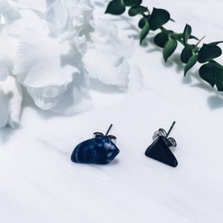 colorful dream earrings | 藍色沉默-耳環