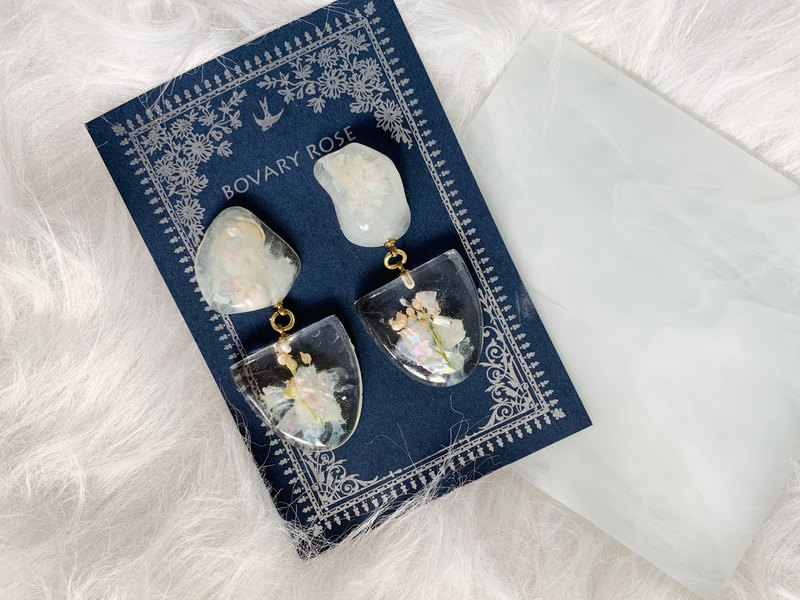 Winter botanical garden original stone series ear clip version blessed bouquet
