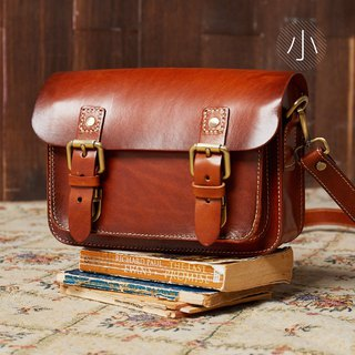[Organic flavor] thick leather handmade Cambridge bag _ Mocha coffee (small)