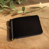 Money Clip - My - Black / Wallet / Leather Wallet / Small Wallet / Short Wallet / Personalized / Eng..