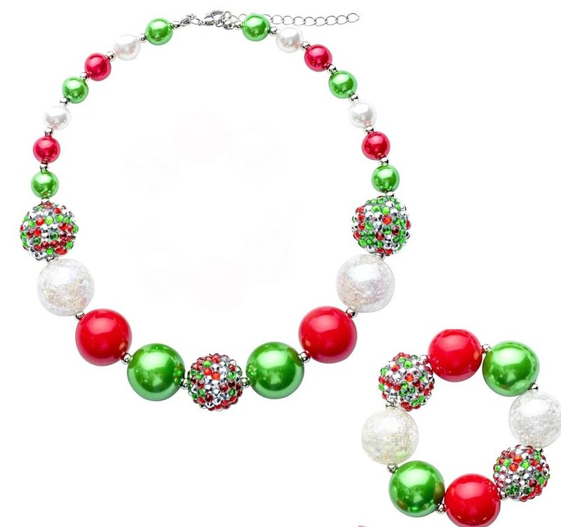 Cutie Bella Kids Jewelry Necklace Bracelet Set Chunky Necklace bracelet set