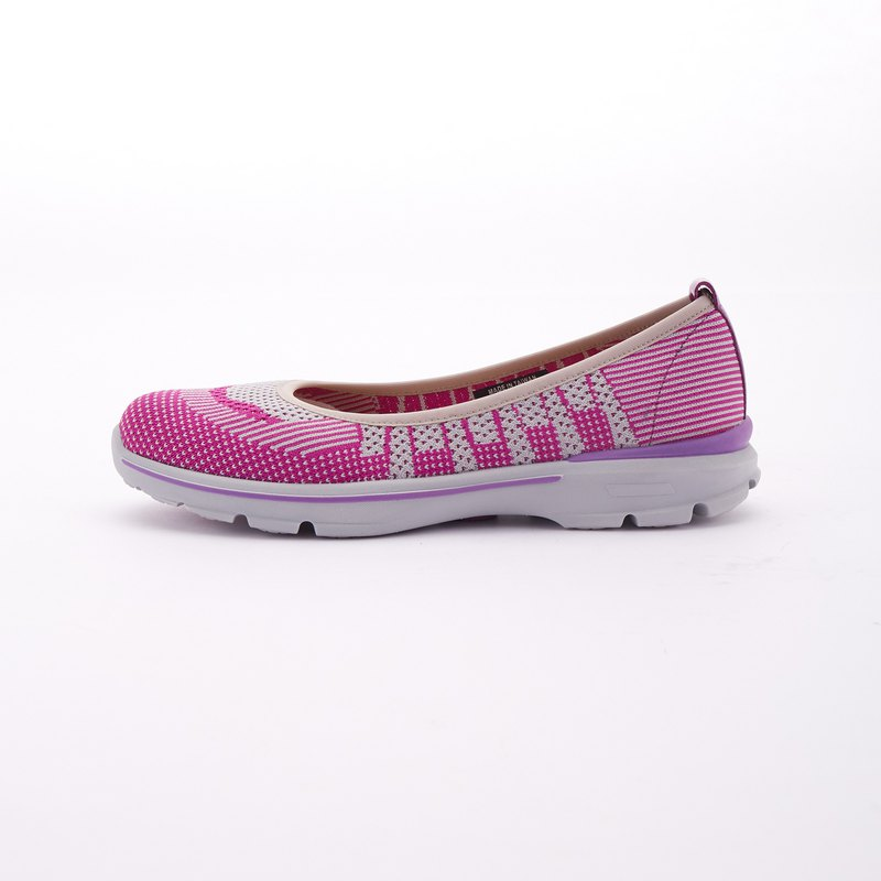 Large size women's shoes 41-44 made in Taiwan stretch sole breathable mesh lightweight casual shoes 3cm pink
