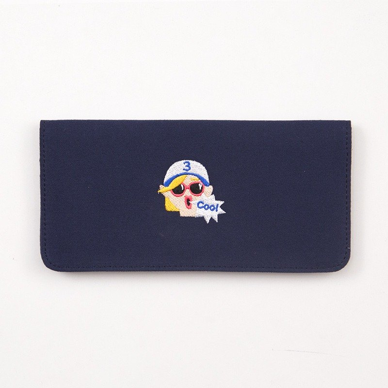 Bentoy x Shouting Animals - Embroidered Canvas Long Clip - Girl