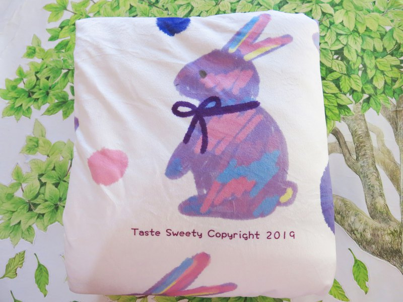Happiness Design-Little Purple Rabbit Blanket