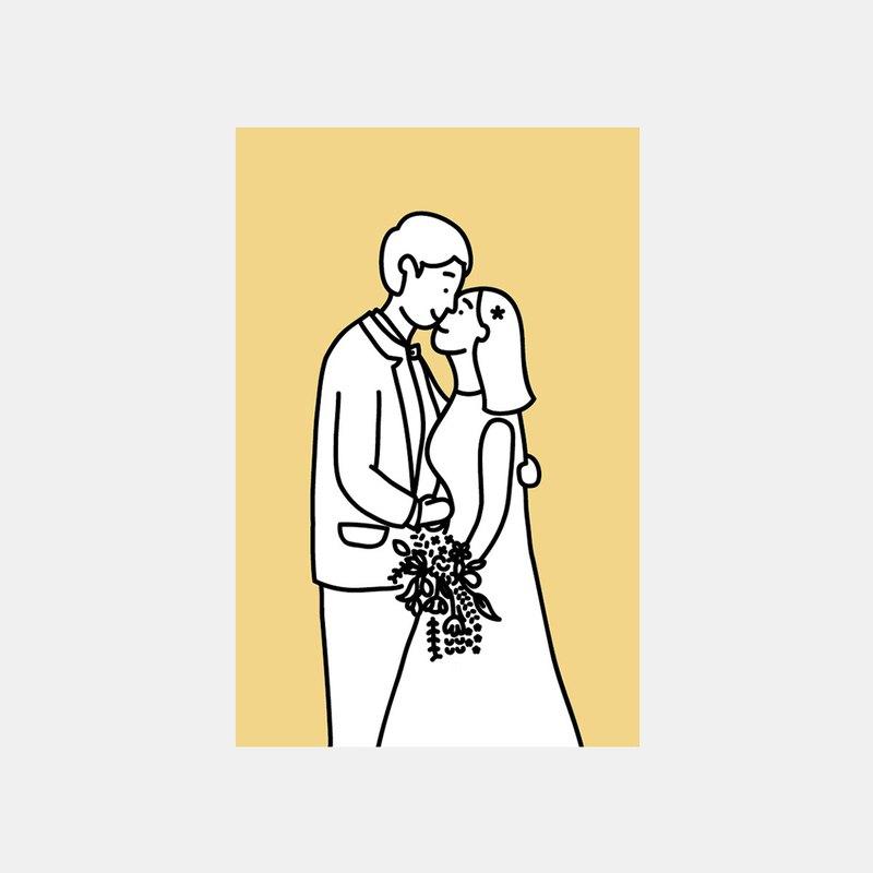婚禮明信片(黃色)