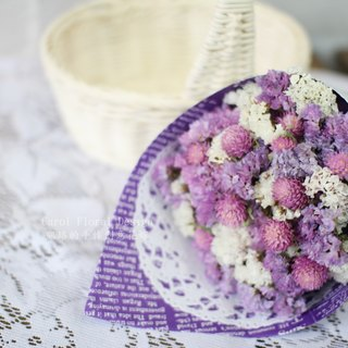 [Pink wish - a small bouquet of dried flowers] - eternal flower / dried flower / bouquet jewelry / wedding bouquets Bouquet / Flower Ceremony