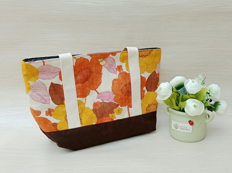 [Tote bag] orange flower