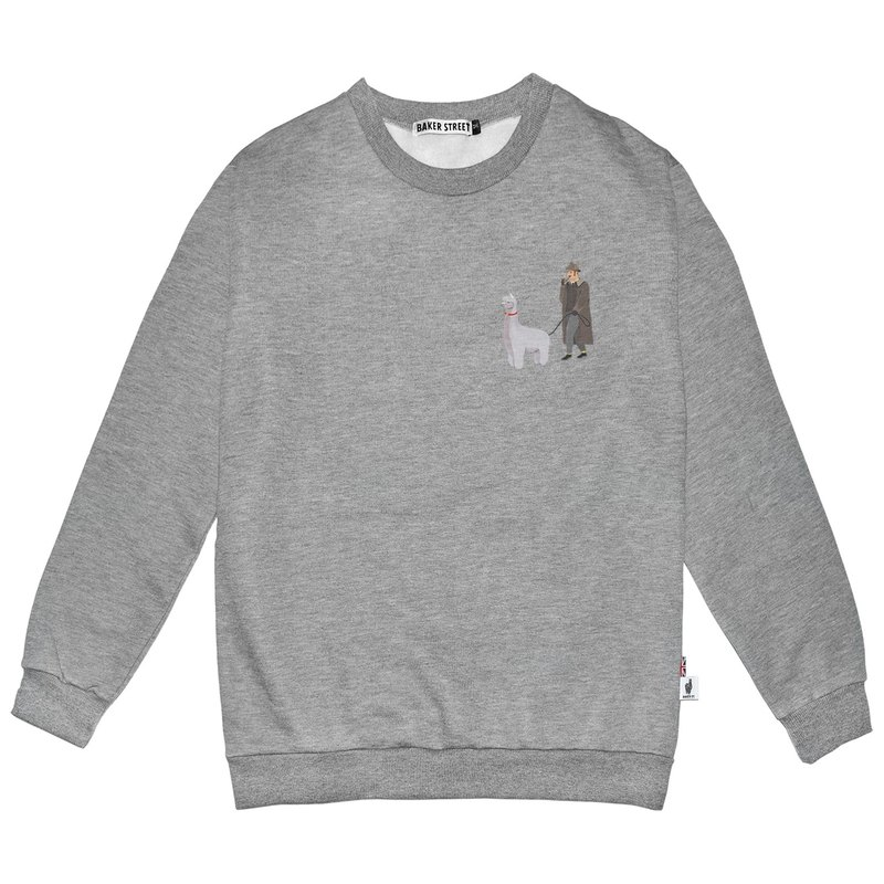 British Fashion Brand -Baker Street- Little Stamp: Walking the Alpaca Sweatshirt