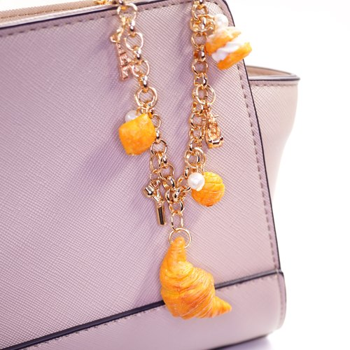 *Playful Design* Croissant / Puffs / Pineapple Bun Bag Charm