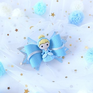 Little Princess Glitter Hair Bows (baby blue) B