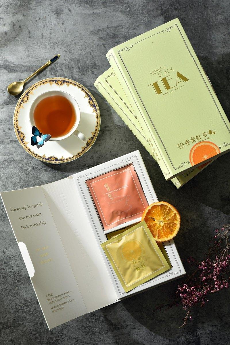 [Orange Fragrance Black Tea] 5 boxes / book, butterfly design / afternoon tea / preferred gift
