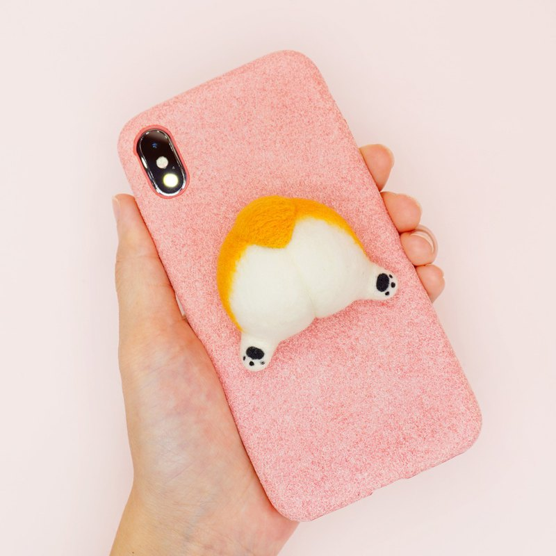 Needle Felting Birthday Gifts Corgi Dog Wool Felting Corgi Butt Phone Case