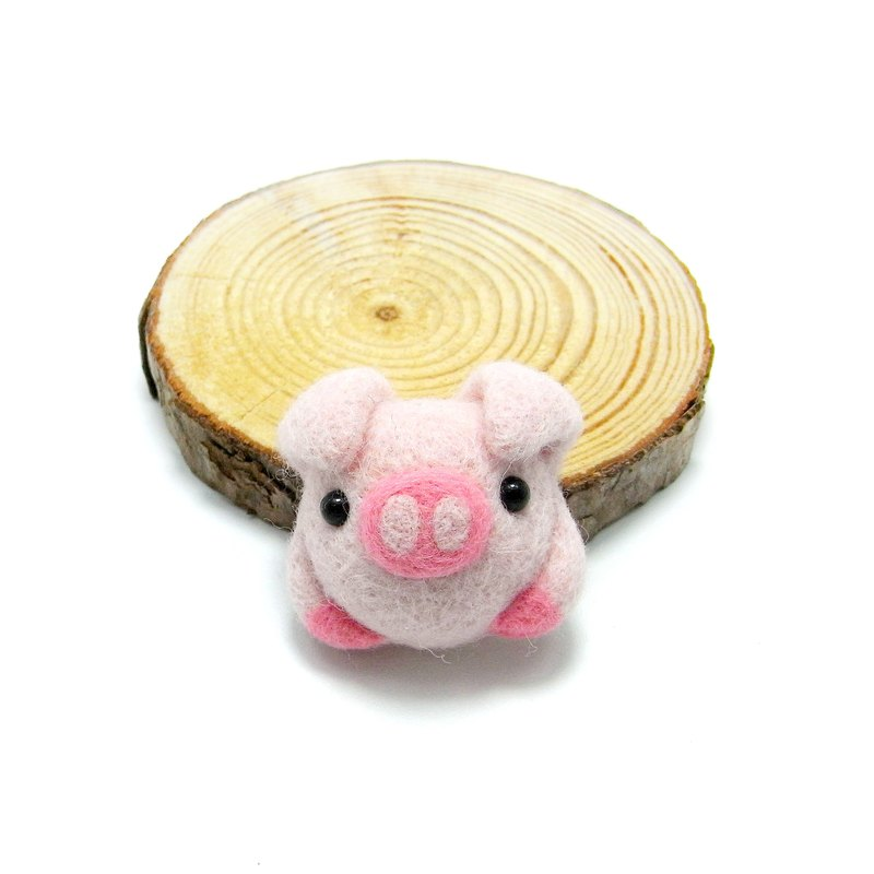 <Wool felt> Hugging Piggy(M Size) - by WhizzzPace