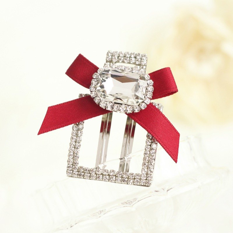Elegant Rhinestones Square Shaped Hair Clip