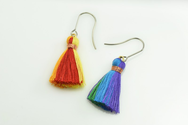 Tassel Earrings - Rainbow