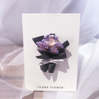 Dry Flower Card - Hermès Paper / Dried Flowers / Handmade Cards / Birthday Cards / Opening Cards / Congratulation Cards