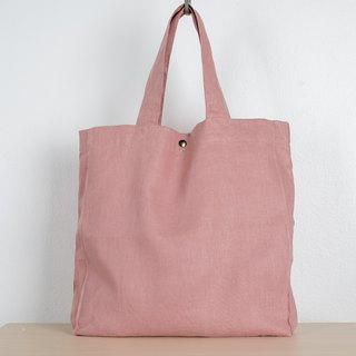 Casual Linen Tote Bag (Pink Lotus)